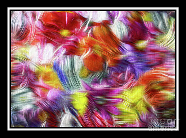 Painting - 9b Abstract Expressionism Digital Painting by Ricardos Creations