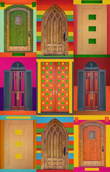 Estate Digital Art - 9doors by Art Spectrum
