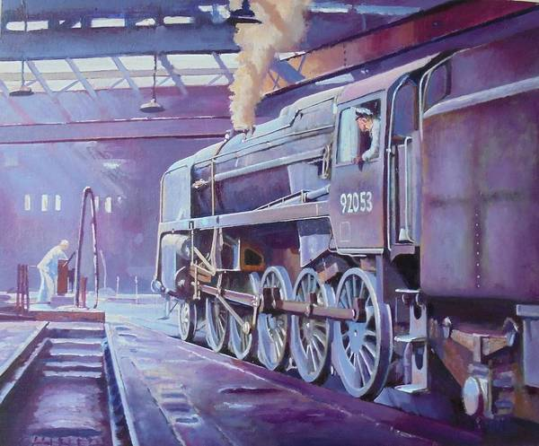 0 Painting - 9f On Shed. by Mike Jeffries