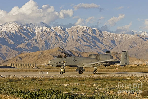 Jet Fighter Photograph - A-10 Warthog At Bagram by Tim Grams