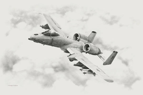 Digital Art - A-10 Warthog by Douglas Castleman