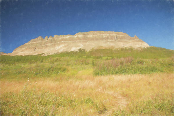 Photograph - A Art Rendition Of Flat Top Mountain. Western Montana. by Rusty R Smith