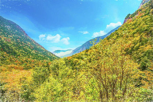 Photograph - A Autumn View Of Crawford Notch In The White Mountains,new Hamps by Rusty R Smith