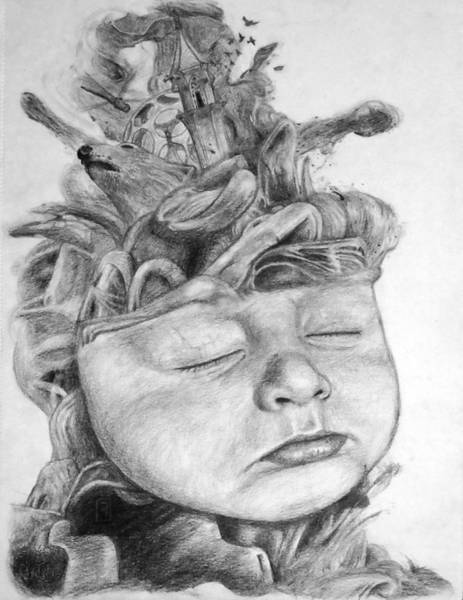 Lava Drawing - A Babies Dreams by Bernd Fuerlinger