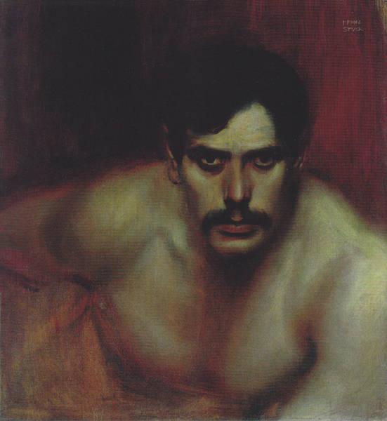 Franz Von Stuck Painting - A Bad Conscience  by Franz von Stuck
