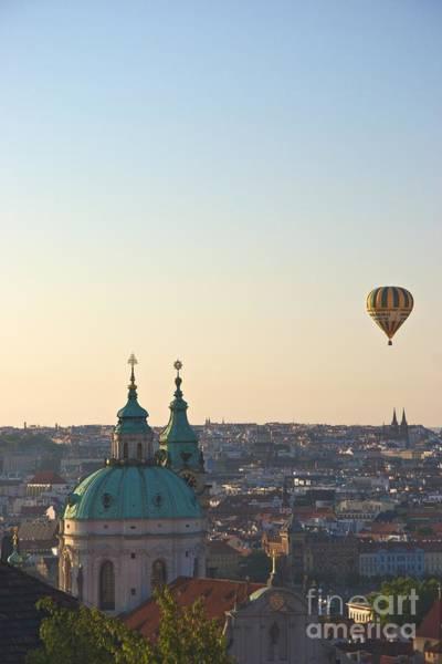 A Balloon Over Prague Art Print by Hideaki Sakurai