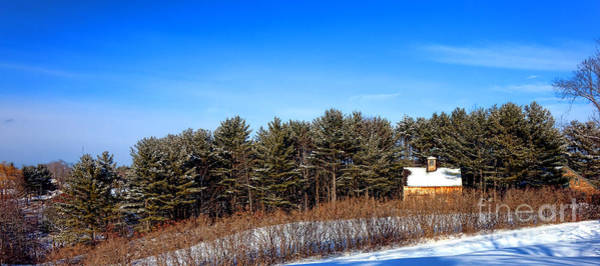 Wood Siding Wall Art - Photograph - A Barn In The Snow In Maine by Olivier Le Queinec