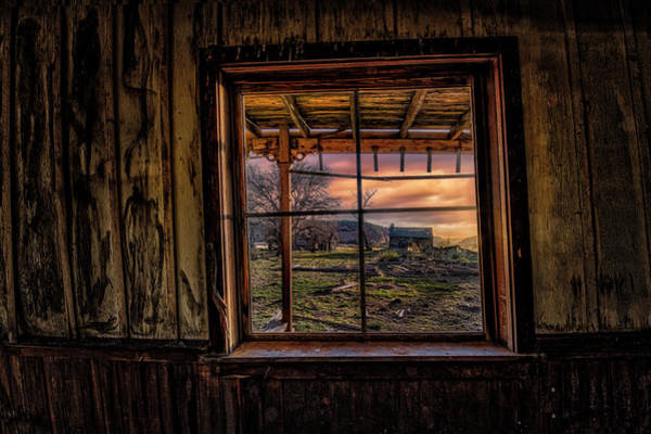Photograph - A Barn View by Michael Ash
