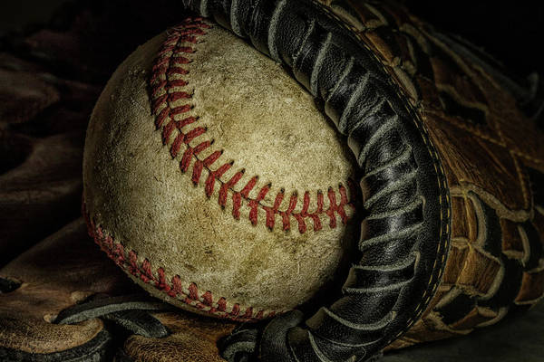 Gloves Photograph - A Baseball Still Life by Tom Mc Nemar