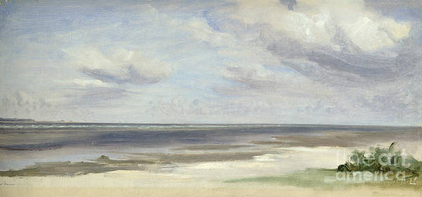 Baltic Sea Painting - A Beach On The Baltic Sea At Laboe by Jacob Gensler