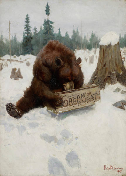 Drunk Painting - A 'bear' Chance by Philip R Goodwin