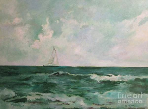 Impressionistic Sailboats Painting - A Beautiful Day At Madeira Beach by Barbara Moak