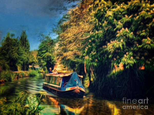 Digital Art - A Beautiful Day On The Wey by Leigh Kemp
