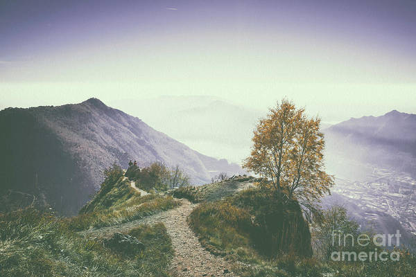 Trekking Digital Art - A Beautiful View Of Lecco And Lake Of Como From Piani D'erna And by Alfio Finocchiaro
