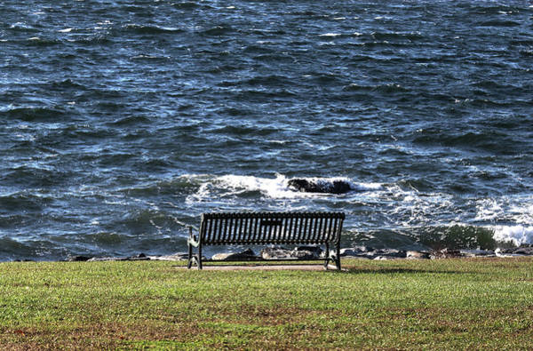 Rock Island Line Photograph - A Bench By The Sea by Tom Prendergast