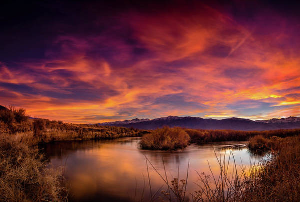 Sierra Nevada Photograph - A Bend In The Owens by Dan Holmes