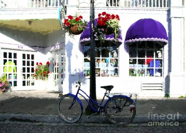 Photograph - A Bicycle On Mackinac Island by Mel Steinhauer