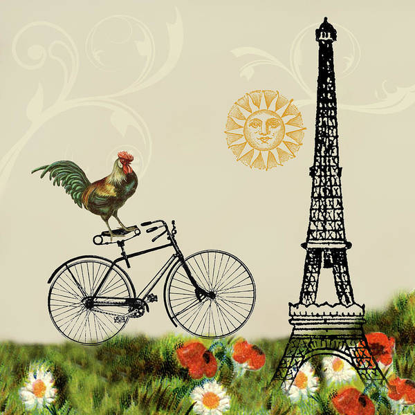Mixed Media - A Bicycle Tour Of Paris by Peggy Collins