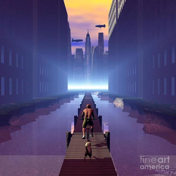 Digital Art - Empire Boardwalk by Walter Neal