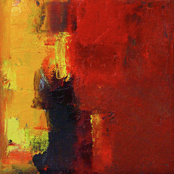 Wall Art - Painting - A Bit Of Red by Nancy Merkle