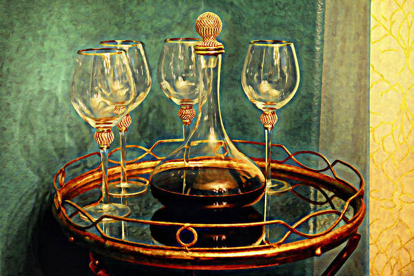 Digital Art - A Bit Of Wine by Glenn McCarthy Art and Photography
