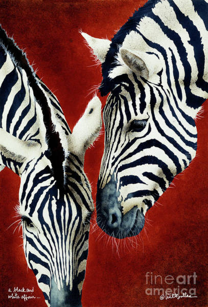 Zebra Painting - A Black And White Affair... by Will Bullas