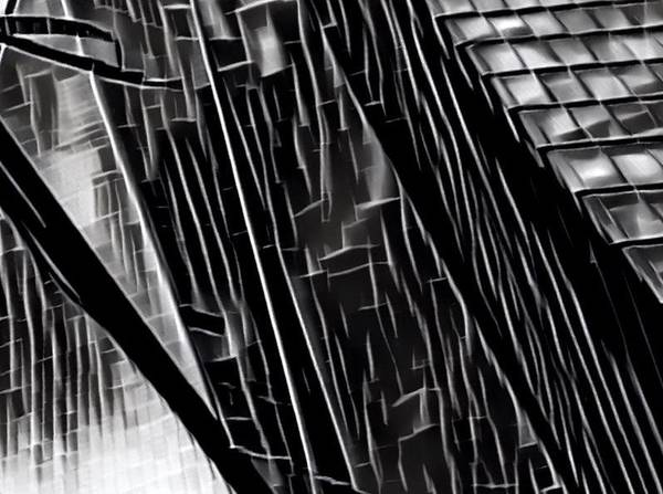 Architecture Digital Art - A Black-and-white Cookie by Gina Callaghan