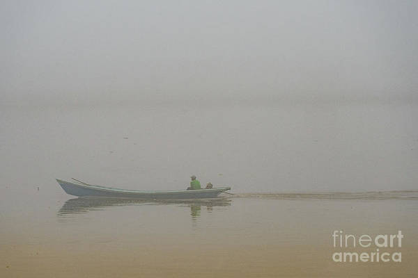 Photograph - A Boat In The Fog by Werner Padarin