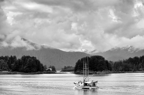 Wall Art - Photograph - A Boat Named Ann In Black And White by SharaLee Art