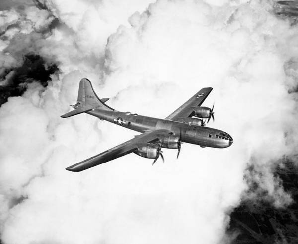 Superfortress Photograph - A Boeing B-29 Superfortress, Circa 1944 by Everett