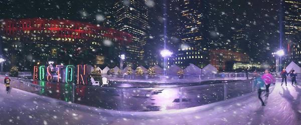 Photograph - A Boston Winter - City Hall Plaza by Joann Vitali
