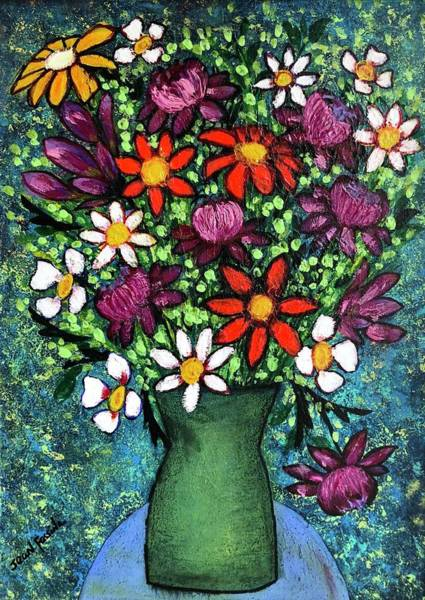 Wall Art - Painting - A  Bouquet For Giuseppe's Birthday by Jean Fassina