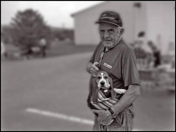 Photograph - A Boy And His Beagle by Wayne King