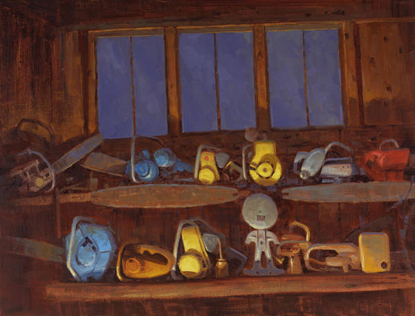 Antiques Painting - A Boy And His Toys by Cody DeLong