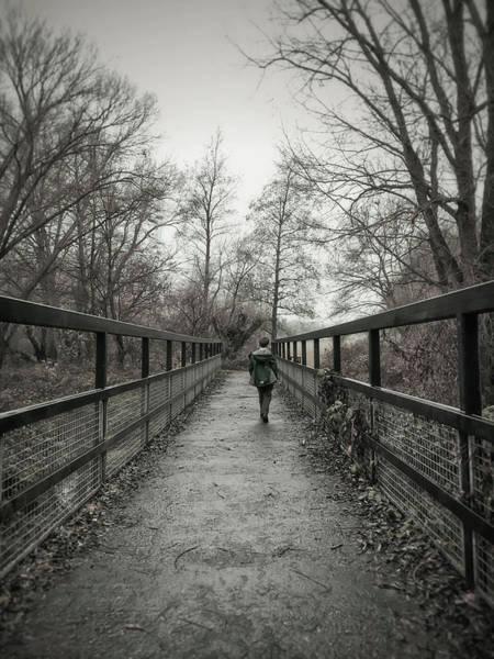 Wall Art - Photograph - A Boy On A Bridge  by Tom Gowanlock