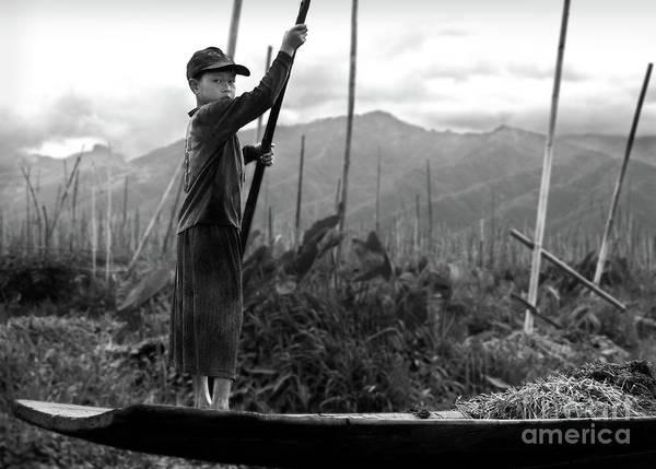 Photograph - A Boy On Inle Lake by RicardMN Photography