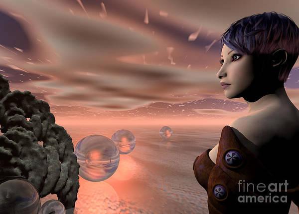 Digital Art - A Brave New World by Sandra Bauser Digital Art