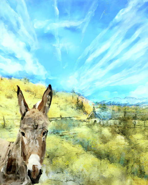 Donkey Painting - A Brayer For New Mexico by Kimberly Potts