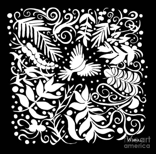 Drawing - A Break In The Foliage by Lise Winne