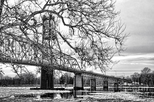 Delaware Photograph - A Bridge In Winter by Olivier Le Queinec