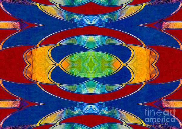 Digital Art - A Brisk Imagination Abstract Bliss Art By Omashte by Omaste Witkowski