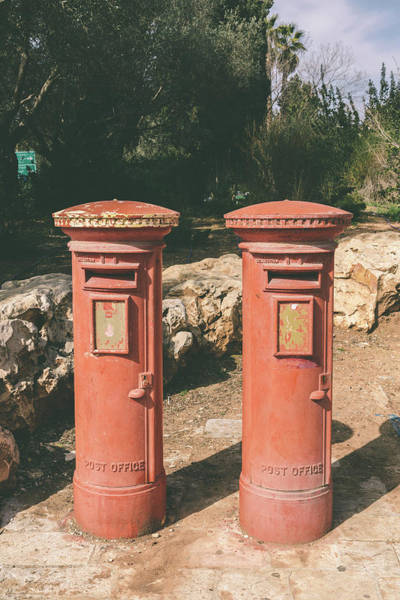 Photograph - A British Postbox In Israel by Alexandre Rotenberg