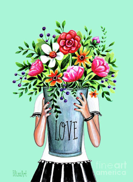 Painting - A Bucket Full Of Love by Elizabeth Robinette Tyndall