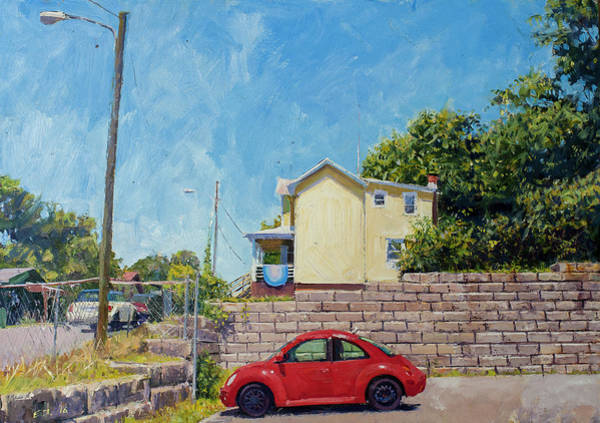 Wall Art - Painting - A Bug On Cherry Ave by Edward Thomas