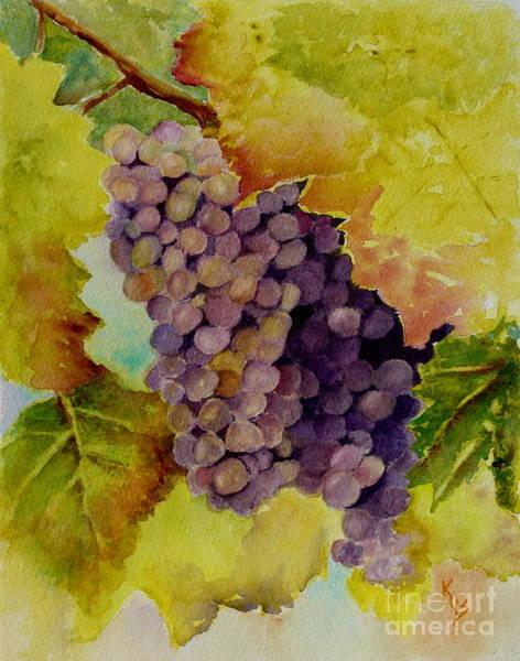 Painting - A Bunch Of Grapes by Karen Fleschler