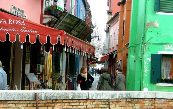Wall Art - Photograph - A Burano Street by Mindy Newman