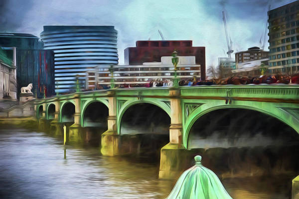 Wall Art - Photograph - A Busy Day On Westminster Bridge by Sharon Lisa Clarke