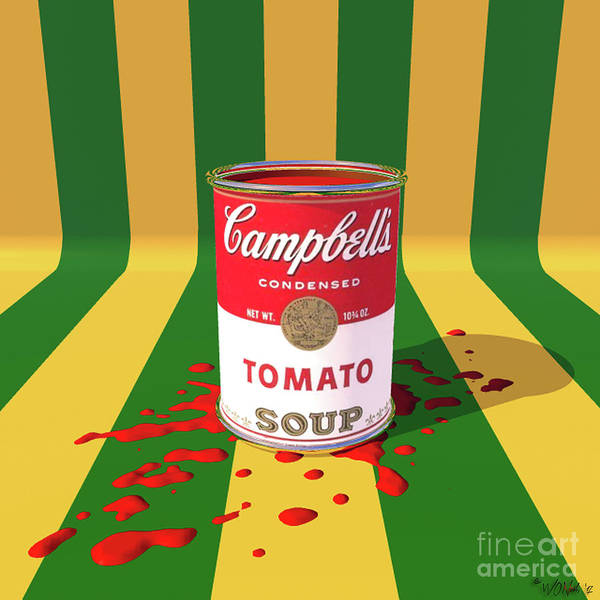 Digital Art - A Can Of Tomato Soup by Walter Neal