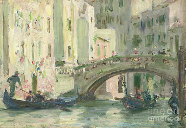 Wall Art - Painting - A Canal In Venice, 1899 by Henry Scott Tuke