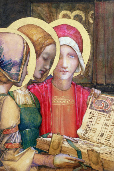Choral Wall Art - Painting - A Carol by Edward Reginald Frampton